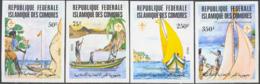 COMORO ISLANDS (1982) Scouts. Set Of 4 Imperforates. Scott Nos 541-4, Yvert Nos 362-5. - Komoren (1975-...)