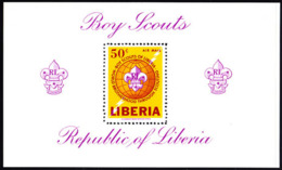 LIBERIA (1965) Scout Emblem. Perforate S/S. Scott No C165, Yvert No BF32. - Liberia