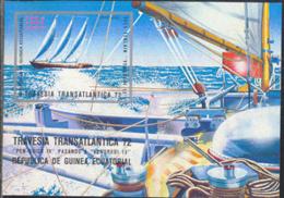 EQUATORIAL GUINEA (1973) Sailboat. Atlantic Crossing 1972. Imperforate S/S. - Äquatorial-Guinea