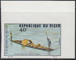 NIGER (1975) Piroque Crossing Niger River. Imperforate. Scott No 339, Yvert No 344. - Niger (1960-...)