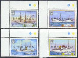 TUVALU (1986) Sailing Ships. Set Of 4 Overprinted SPECIMEN. Scott Nos 353-6, Yvert Nos 416-9. - Tuvalu