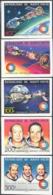 UPPER VOLTA (1975) Apollo-Soyuz. Set Of 5 Imperforates. Scott Nos 370-1,C216-8. Yvert Nos 359-60,PA193-5. - Alto Volta (1958-1984)