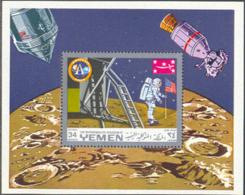 YEMEN (1969) Apollo 11. Perforated S/S. Michel Bloc 161a. - Jemen