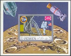 YEMEN (1969) Apollo 11. Imperforate S/S. Michel Bloc 161b. - Jemen