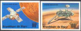 NIGER (1977) Viking Mars Program. Set Of 5 Imperforates. Scott Nos 389-90,C283-5. Yvert Nos 396-7,PA276-8. - Niger (1960-...)