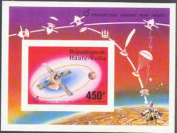 UPPER VOLTA (1976) Viking Mars Lander. Imperforate S/S. Scott No C240, Yvert No BF5ap. - Alto Volta (1958-1984)