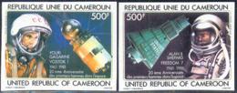 CAMEROUN (1981) First Men In Space: Gagarin, Shepard. Set Of 2 Imperforates. Scott Nos C291-2, Yvert Nos PA305-6. - Camerun (1960-...)