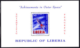LIBERIA (1963) Telstar. Rocket. Perforate S/S. Scott No C151, Yvert No BF30. - Liberia