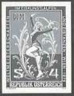 AUSTRIA (1979) Ice Skater. Black Print, World Ice Skating Championship. Scott No 1113, Yvert No 1429. - Proofs & Reprints