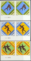 MALI (1973) High Jump. Discus. Soccer. Set Of 3 Imperforate Pairs. Scott Nos 199-201, Yvert Nos 201-3. - Mali (1959-...)