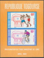 TOGO (1969) Stadium. Imperforate S/S. Scott No C106a, Yvert No BF36. - Togo (1960-...)