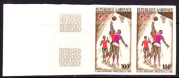 GABON (1965) Women Basketball Players. Imperforate Pair. Scott No C35, Yvert No PA37. - Gabun (1960-...)