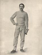 Escrime Professeur Lucien Merignac Gagnant Du Touenoi De Fleuret De L' Exposition  1900 - Fencing
