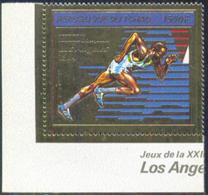CHAD (1982) Runner. Gold Foil Stamp. Scott No C243. - Tschad (1960-...)