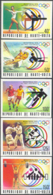 UPPER VOLTA (1976) Montreal Olympics. Set Of 5 Imperforates. Scott Nos 387-9,C228-9. Yvert Nos 377-9,PA201-2. - Alto Volta (1958-1984)