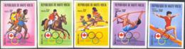 UPPER VOLTA (1976) Montreal Olympics. Set Of 5 Imperforates. Scott Nos 390-2,C231-2. Yvert Nos 380-2,PA213-4. - Alto Volta (1958-1984)