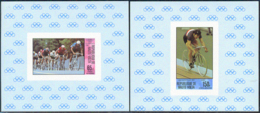 UPPER VOLTA (1980) Moscow Olympics. Set Of 4 Imperforate Minisheets. Scott Nos C258-61, Yvert Nos PA225-8. - Alto Volta (1958-1984)