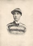 Beau Portrait Du Jockey W. Pratt Vainqueur Du Grand Prix De Paris  1900 - Equitation