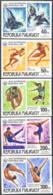 MADAGASCAR (1976) Calgary Olympics. Set Of 5 Imperforates. Scott Nos 571-2,C168-70. Yvert Nos 578-9,PA162-4. - Madagaskar (1960-...)