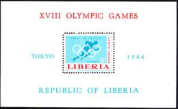 LIBERIA (1964) Tokyo Olympics. Perforate S/S. Scott No C163, Yvert No BF31. - Liberia