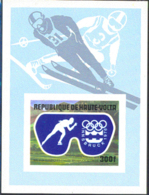 UPPER VOLTA (1976) Innsbruck Olympics. Imperforate S/S. Scott No C230, Yvert No BF5AK. - Alto Volta (1958-1984)