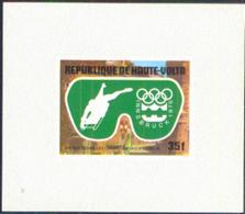 UPPER VOLTA (1976) Innsbruck Olympics. Set Of 5 Imperforate Minisheets. Scott Nos 384-6,C228-9. - Alto Volta (1958-1984)