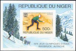 NIGER (1976) Innsbruck Olympics. Imperforate S/S. Scott No C268, Yvert No BF13. - Niger (1960-...)
