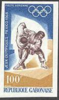 GABON (1968) Judo. Imperforate, Mexico Olympics. Scott No C72, Yvert No PA74. - Gabun (1960-...)