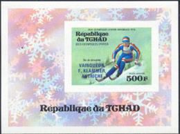 CHAD (1976) Innsbruck Olympics (overprinted Winner). Imperforate S/S. Scott No C180. Yvert No BF15. - Tschad (1960-...)