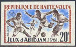 UPPER VOLTA (1962) Soccer. Abidjan Games. Imperforate. Scott No 103, Yvert No 104. - Alto Volta (1958-1984)