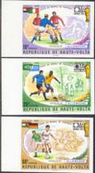 UPPER VOLTA (1974) Germany World Cup. Set Of 6 Imperforates. Scott Nos 335-7,C193-5. Yvert Nos 329-31,PA180-2. - Alto Volta (1958-1984)