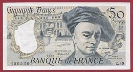 """50 Francs """"Quentin De La Tour """" ---1987-----AU -UNC/SPL---ALPH .Z.49---AUCUN TROU D EPINGLE  -BILLET MAGNIFIQUE - 1962-1997 ''Francs''"""