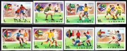 LIBERIA (1974) Munich World Cup. Set Of 8 Imperforates. Scott Nos 675-82, Yvert Nos 645-52. - Liberia