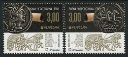 "BOSNIA HERZEGOVINA CROATA / BOSNIA I HERZEGOVINA MOSTAR  - EUROPA 2020 - "" ANCIENT POSTAL ROUTES"" - SERIE De 2 V. - N - 2019"
