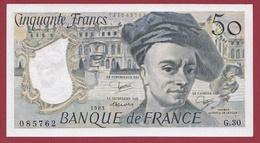 """50 Francs """"Quentin De La Tour """" ---1983-----AU -UNC/SPL---ALPH .G.30---AUCUN TROU D EPINGLE  -BILLET MAGNIFIQUE - 1962-1997 ''Francs''"""