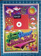 BASF FERRO CROMO E ROCK'N ROLL VINTAGE STICKER ADESIVO NEW ORIGINAL - Stickers