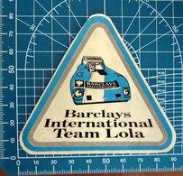 BARCLAYS INTERNATIONAL TEAM LOLA VINTAGE STICKER ADESIVO NEW ORIGINAL - Stickers