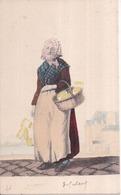 33 - BORDEAUX - Litho Couleur Aquarellée Main G. DE GALARD - Carte Précurseur Neuve état SUPER - Marchande D'Allumettes - Bordeaux