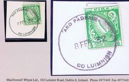 Ireland Limerick 1932 Ardpatrick Rubber Climax Dater ARD PADRAIG CO LUIMNIGH 8 FEB.32 On Piece - Irlande