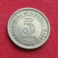 Malaya 5 Cents 1943 - Coins