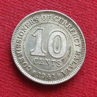 Malaya 10 Cents 1941 - Coins