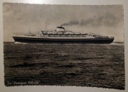 Nave TN Cristoforo Colombo - Bateau, Ship, Boat - 1960 - Viaggiata - Boten