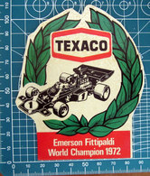 TEXACO EMERSON FITTIPALDI 1972 VINTAGE STICKER ADESIVO NEW ORIGINAL - Stickers