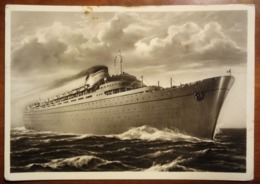 "Nave - ""Europa""? ""Africa ""? - Bateau, Ship, Boat - 1955 - Viaggiata - Boten"