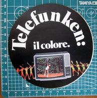 TELEFUNKEN IL COLORE VINTAGE STICKER ADESIVO NEW ORIGINAL - Stickers