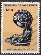 Cabo Verde – 1977 Coconut Crafts 1$50 Used Stamp - Islas De Cabo Verde