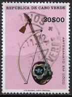 Cabo Verde – 1977 Coconut Crafts 30$00 Used Stamp - Islas De Cabo Verde