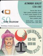 TURKEY(chip) - Altinordu State 1236-1502 Ad Founder Batur Han, Turk Telecom 50 Units, CN:1234567890, Printing Test Card - Turkije