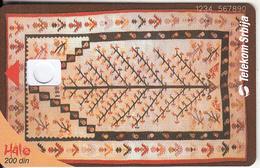 SERBIA - Serbian Carpet, Telecom Srbija Telecard 200 Din, CN : 1234 567890, 01/05, Printing Test Card - Yugoslavia