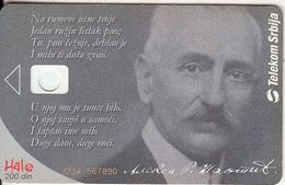 SERBIA - Aleksa Santic(1868-1924), Telecom Srbija 200 Din, Orange CN : 1234 567890, 02/04, Printing Test Card - Jugoslawien